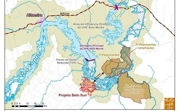 Map of the proposed Belo Sun Mining project