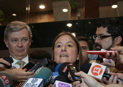 Minister of the Environment María Ignacia Benítez after the meeting