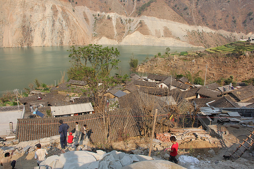 Village above Gongguoqiao Reservoir