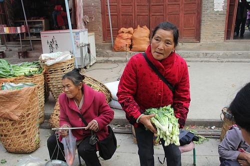 Biaocun morning market vendor