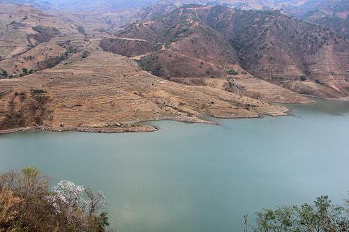 Nuozhadu reservoir and the Lancang's largest dam